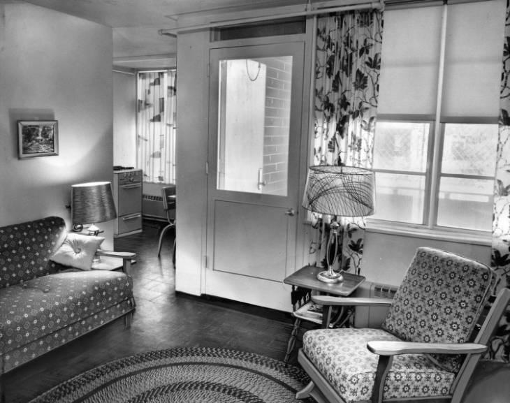 Interior of Mantua Hall Apartment Ca. 1960
