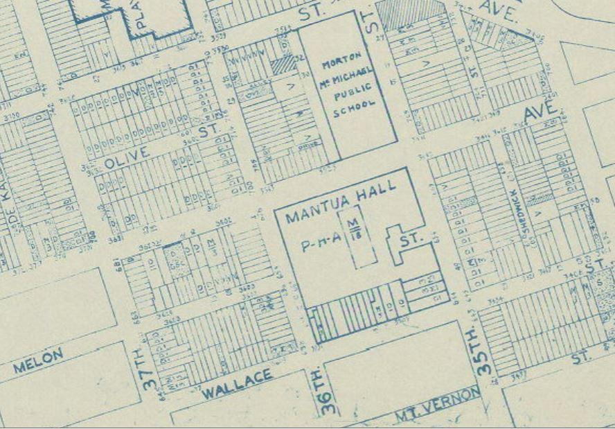 Mantua Hall 1962 Land Use Map