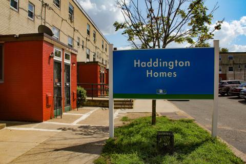 Entrance to Haddington Homes