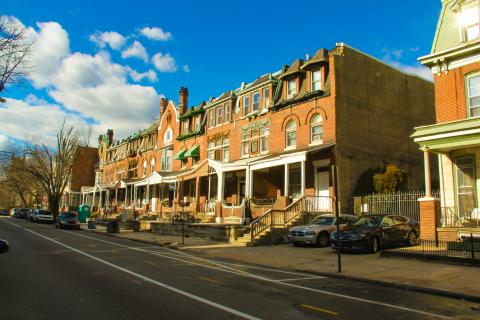 Rowhouses on the 3601 block of Spring Garden St.
