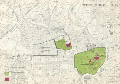 PHA Mill Creek Haddington Map, 1960