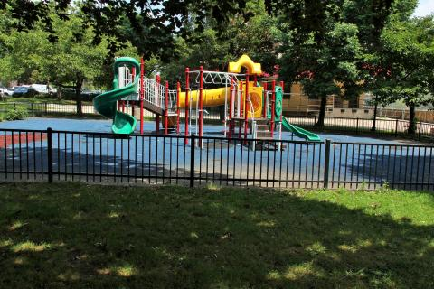 Playground at the North Tower of West Park Apartments