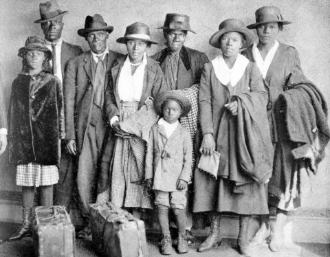 Southern Family Arriving in the North