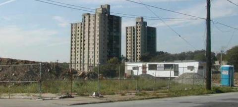 Mill Creek Tower Homes Shortly Before Demolition