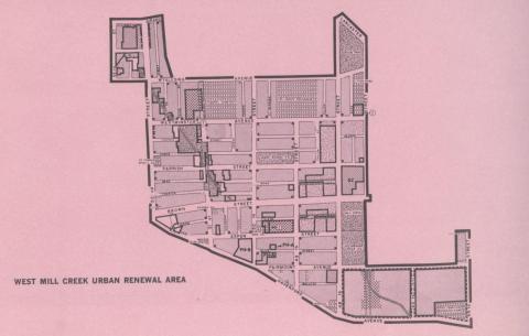 West Mill Creek Urban Renewal Area Map