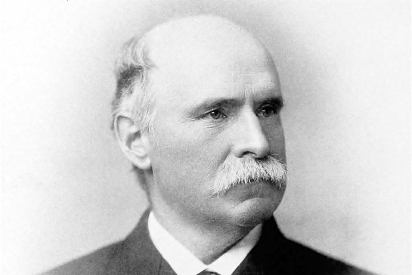 Black and white portrait photograph of Anthony J. Drexel.