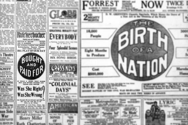 Knickerbocker Theatre Newspaper Advertisement
