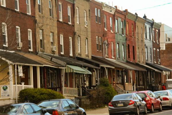 Older Mantua Rowhouses